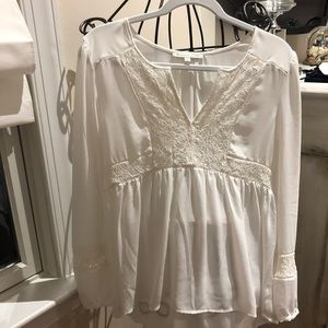 Lace and chiffon Baby doll top. Never worn